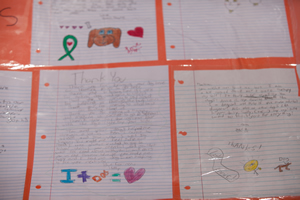 Here are a few of dozens of thank-you notes written by students to the dog teams.