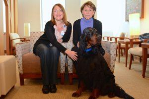 Sandra Town and Sam at Duke Cancer Center